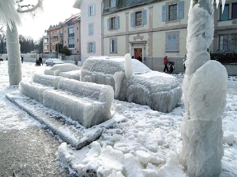Peisaje superbe de iarna