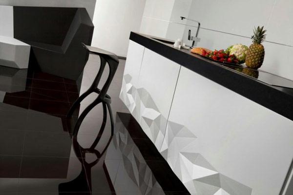 Bucataria origami, un design extravagant