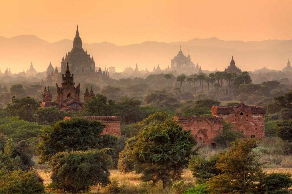 Myanmar, taramul templelor
