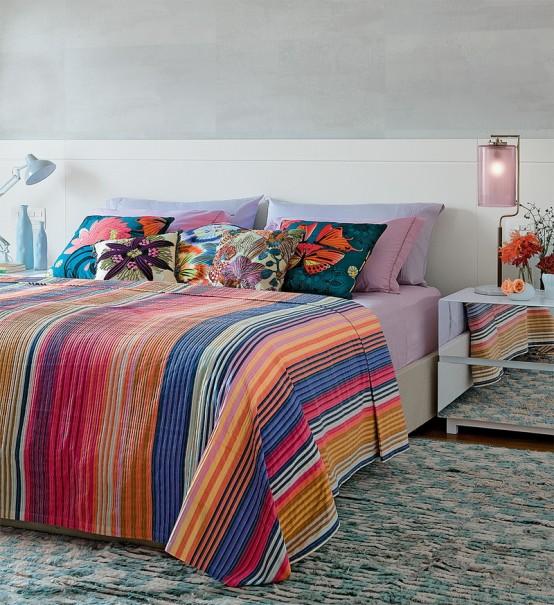 Dormitor cu tema tropicala