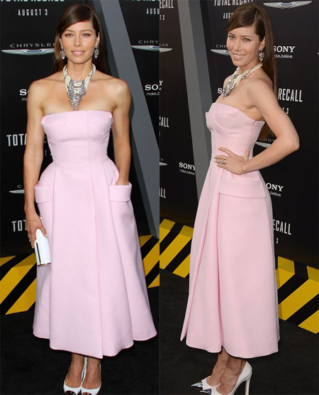 Kate Backinsale a eclipsat-o pe Jessica Biel la premiera Total Recall