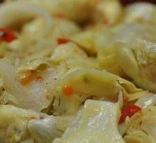 Anghinare cu sos de coriandru