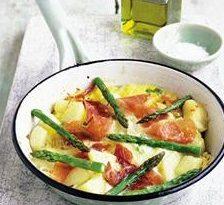Omleta cu sparanghel si sunca de Parma