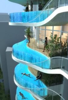 Zgarie-nori cu piscine pe balcon in Mumbai